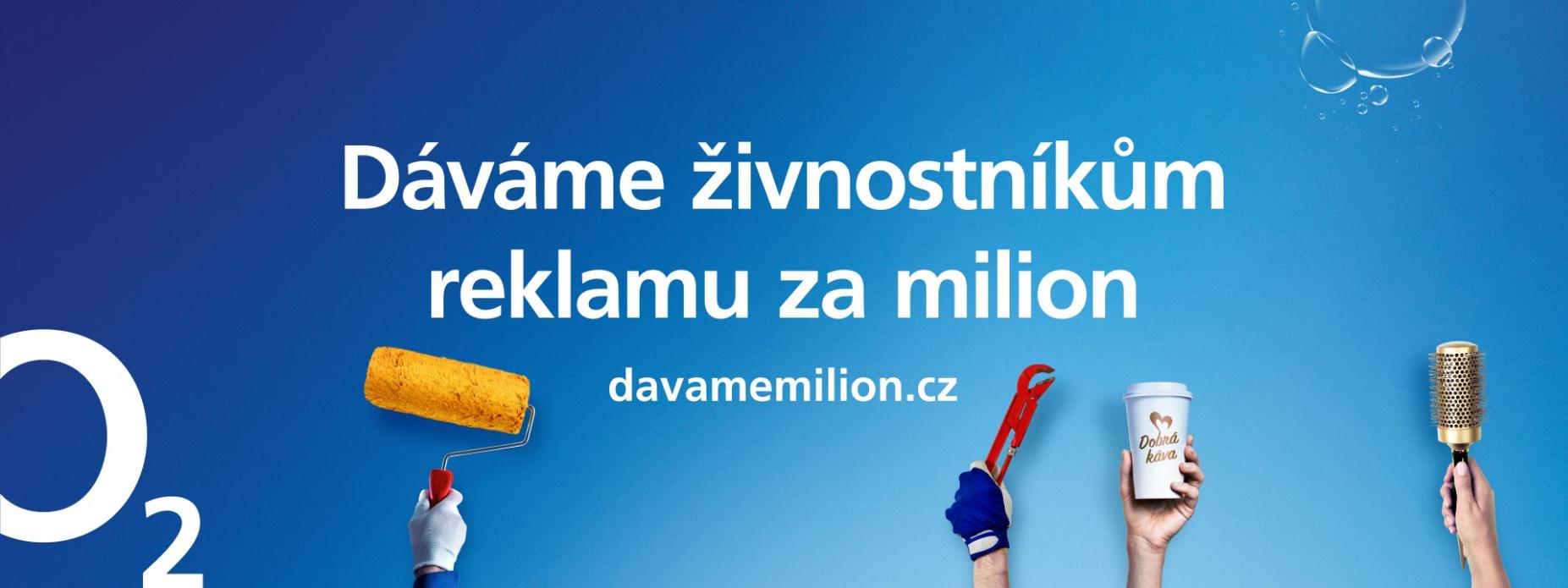 O2 dává milion