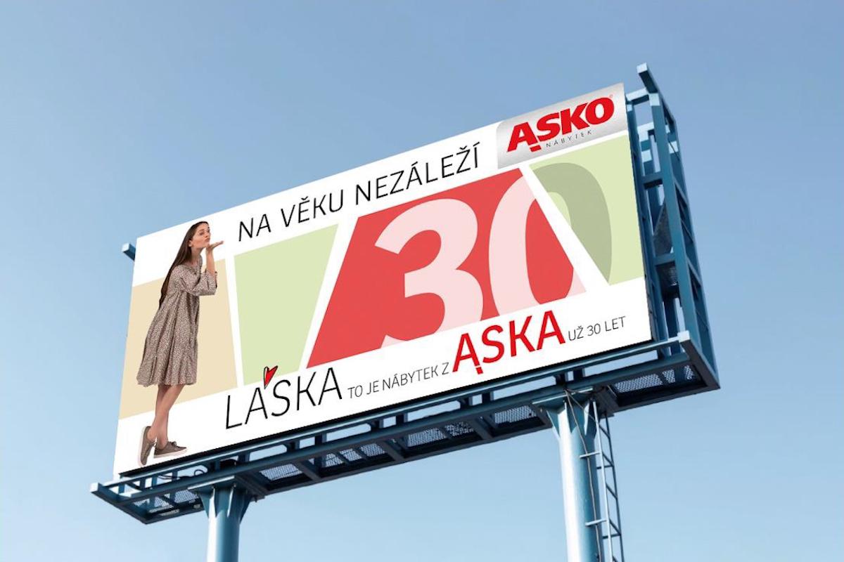 Venkovní reklamní formáty nábytku Asko