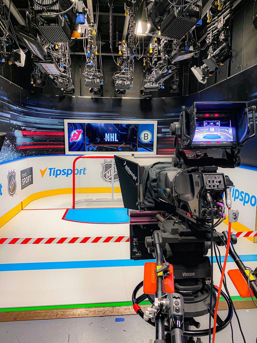 Nové zápasové studio Tipsport NHL v televizi Nova Sport