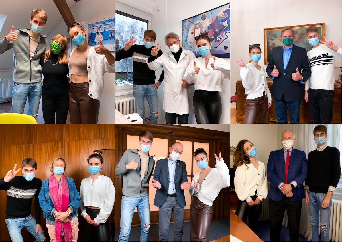 Anna Šulcová a Jakub Gulab s dalšími protagonisty kampaně. Foto: Úřad vlády ČR