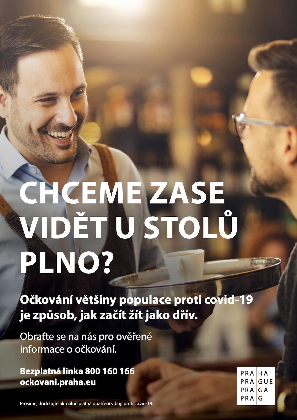 Vizuál kampaně Prahy kočkování proti covidu, od DDB Prague