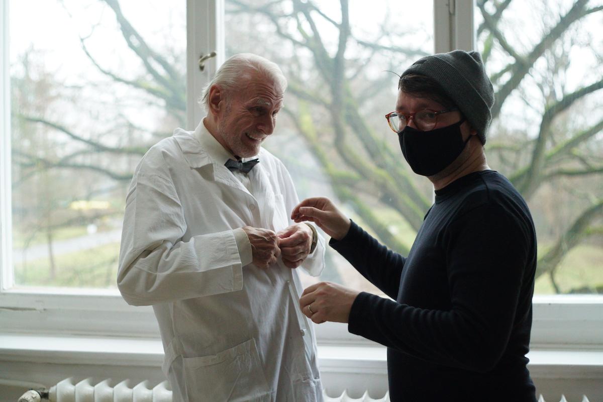 Hlavní herec s tvůrcem spotu Janem Chramostou. Foto: Tomáš Mikule
