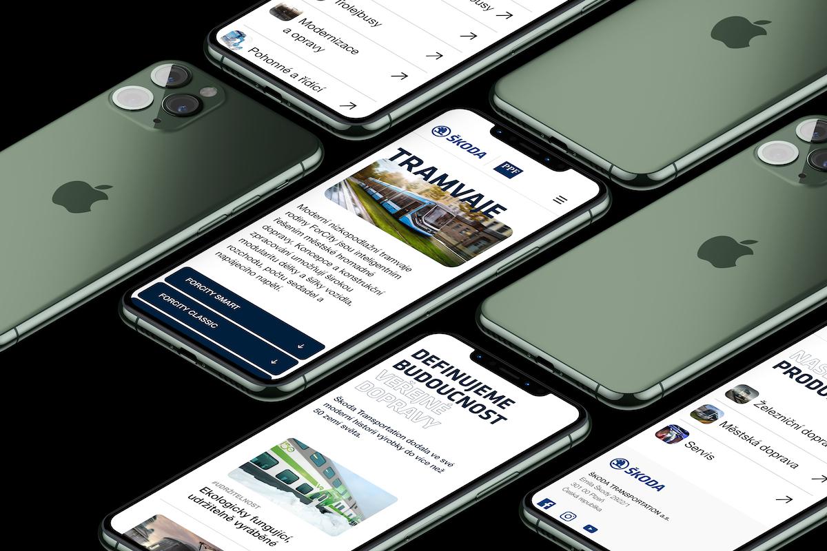 Návrh webu pro Škodu Transportation