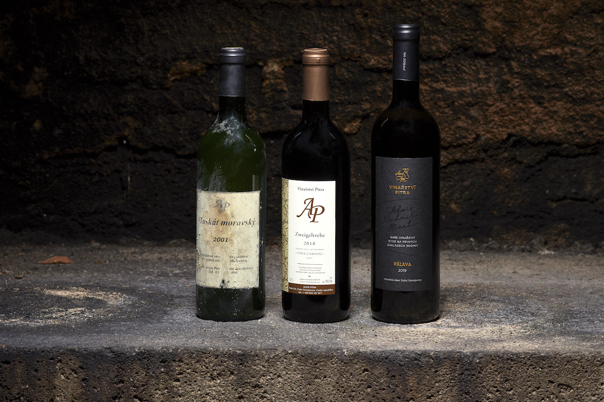Packaging Vinařství Pitra: před a po