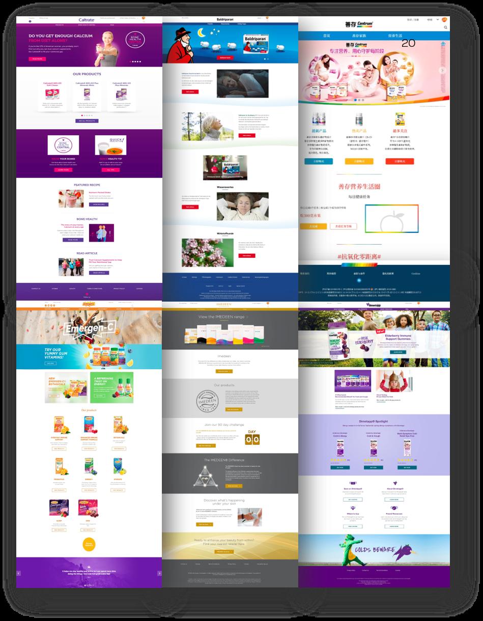 Ukázka redesignovaných webů
