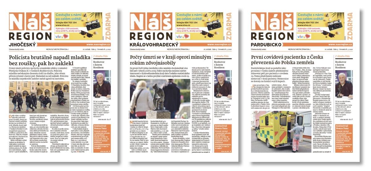 Nové mutace regionálních novin Náš region