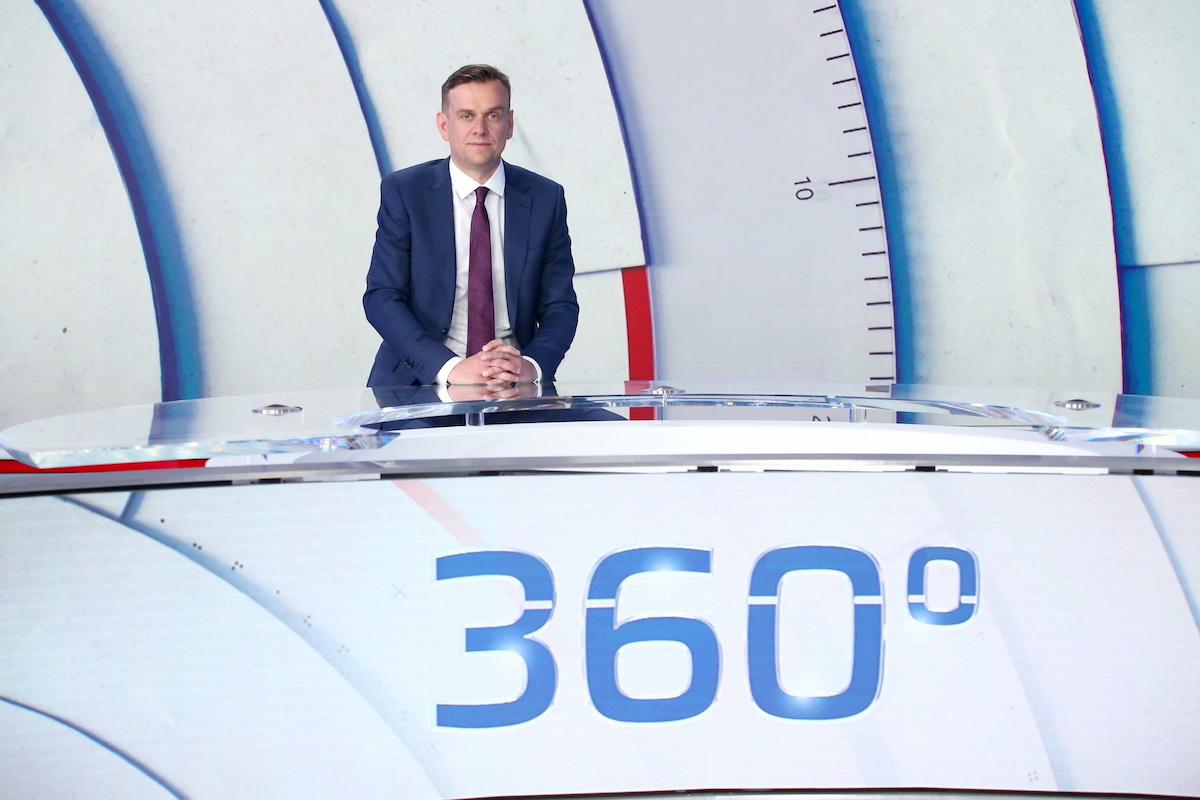 Michal Půr ve studiu CNN Prima News. Foto: TV Prima