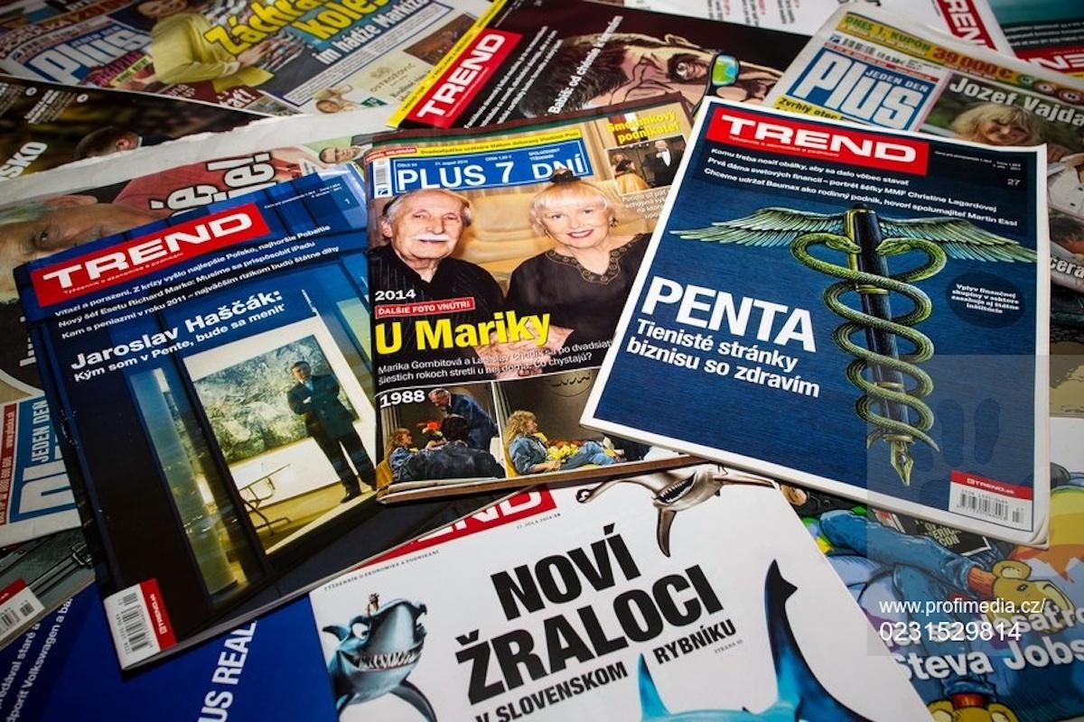 Penta nadále vlastní vydavatelství 7 Plus a Trend Holding. Ilustrační foto: Profimedia.cz