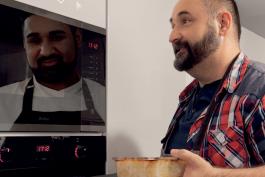 I vy se můžete stát šéfkuchařem, radí Pavel Berky v odrazech spotřebičů Amica