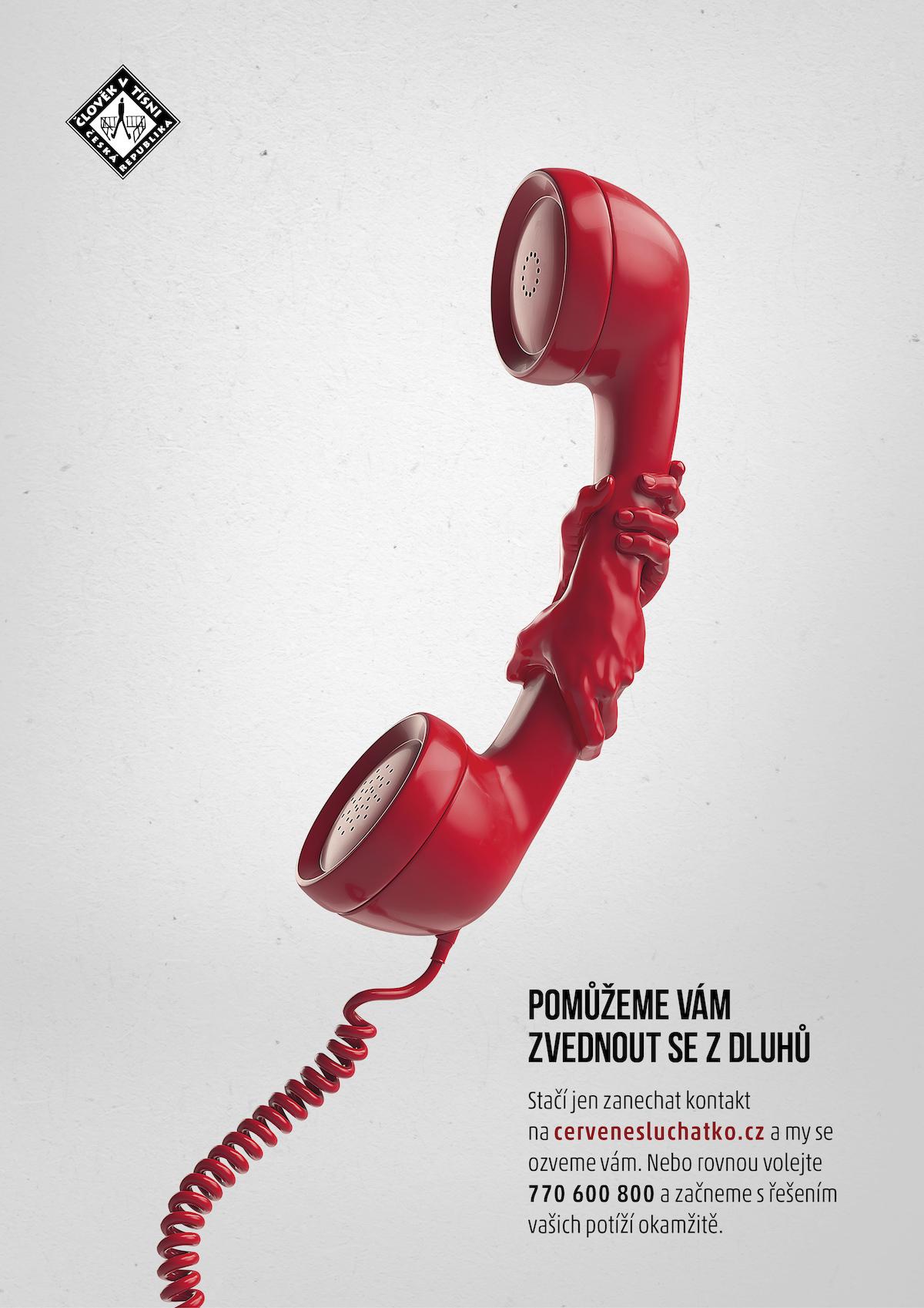Člověk v tísni: Červené sluchátko (VMLY&R Prague)