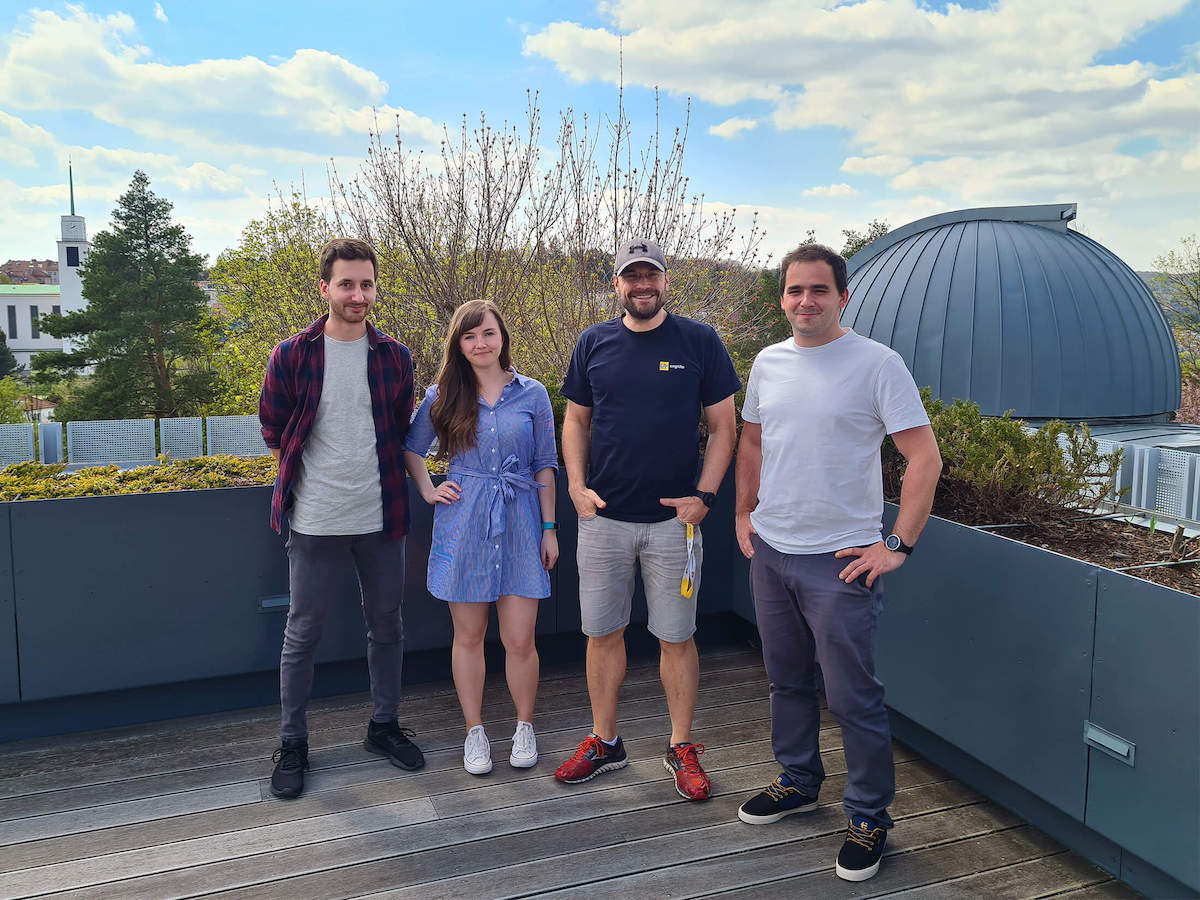 Kreativní tým agentury Cognito: zleva Jan Špičák, Michaela Oulehla, Jan Janča a Peter Treščák