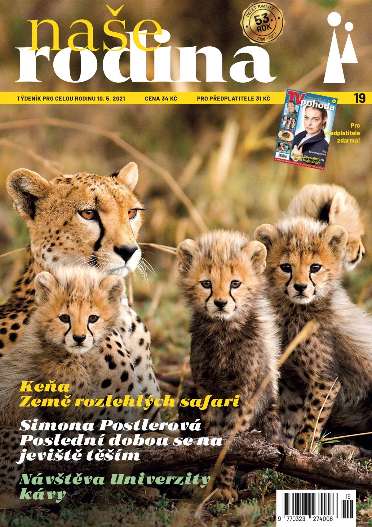 Titulní strana aktuálního vydání týdeníku Naše rodina