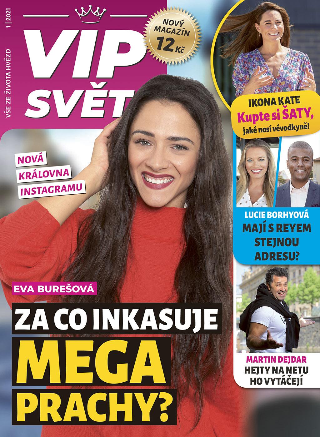 Titulní strana prvního vydání časopisu VIP svět
