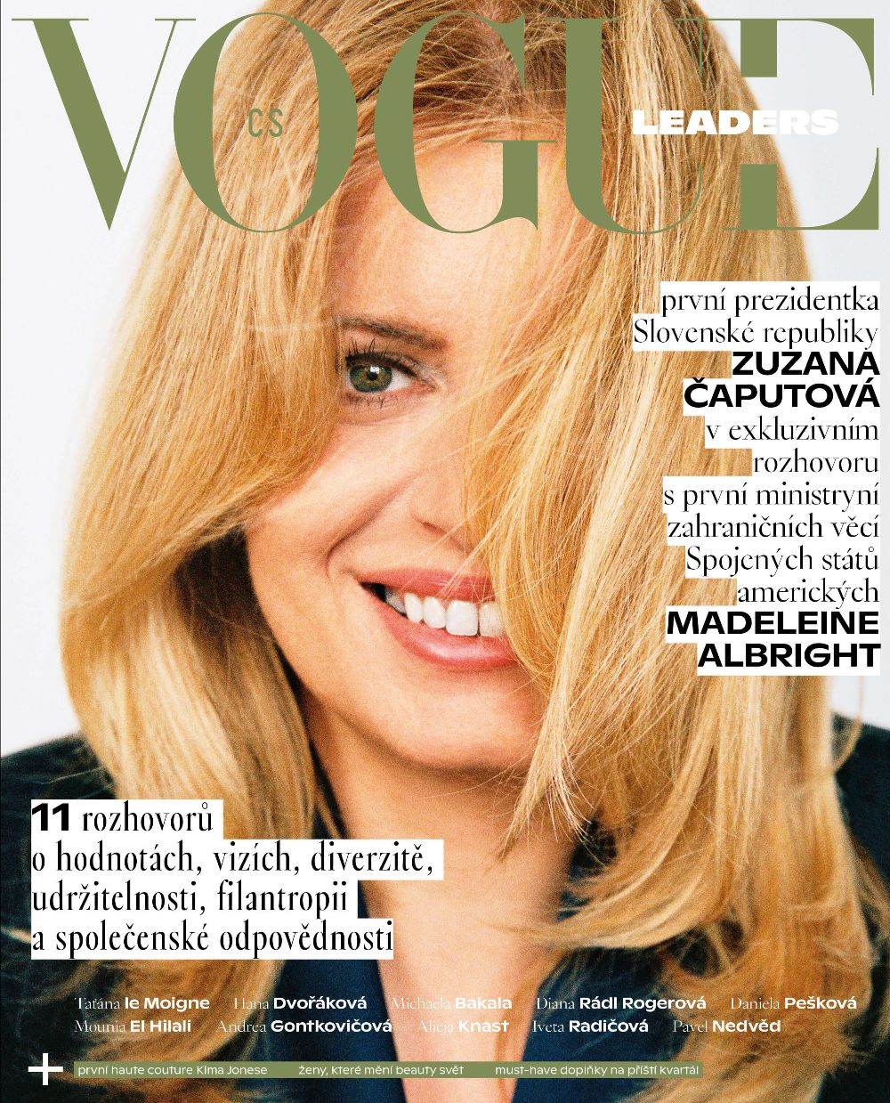 Titulní strana prvního vydání Vogue Leaders