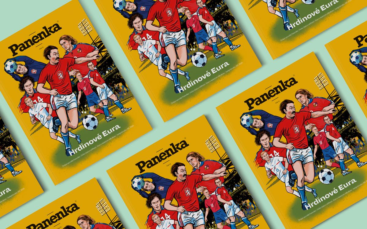 Titulní strana prvního vydání magazínu Panenka