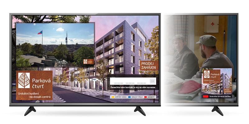 Ukázka kampaně v HbbTV na Primě