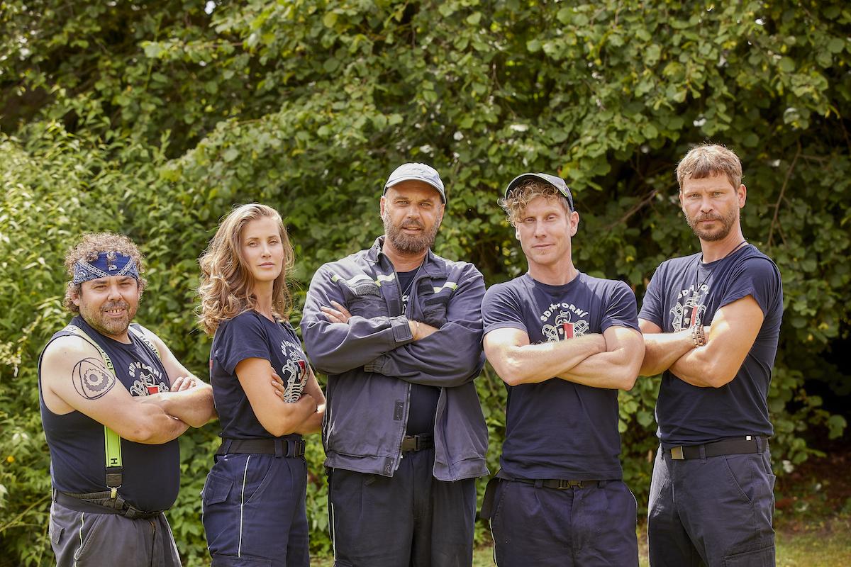 Protagonisté seriálu Co ste hasiči. Foto: TV Nova