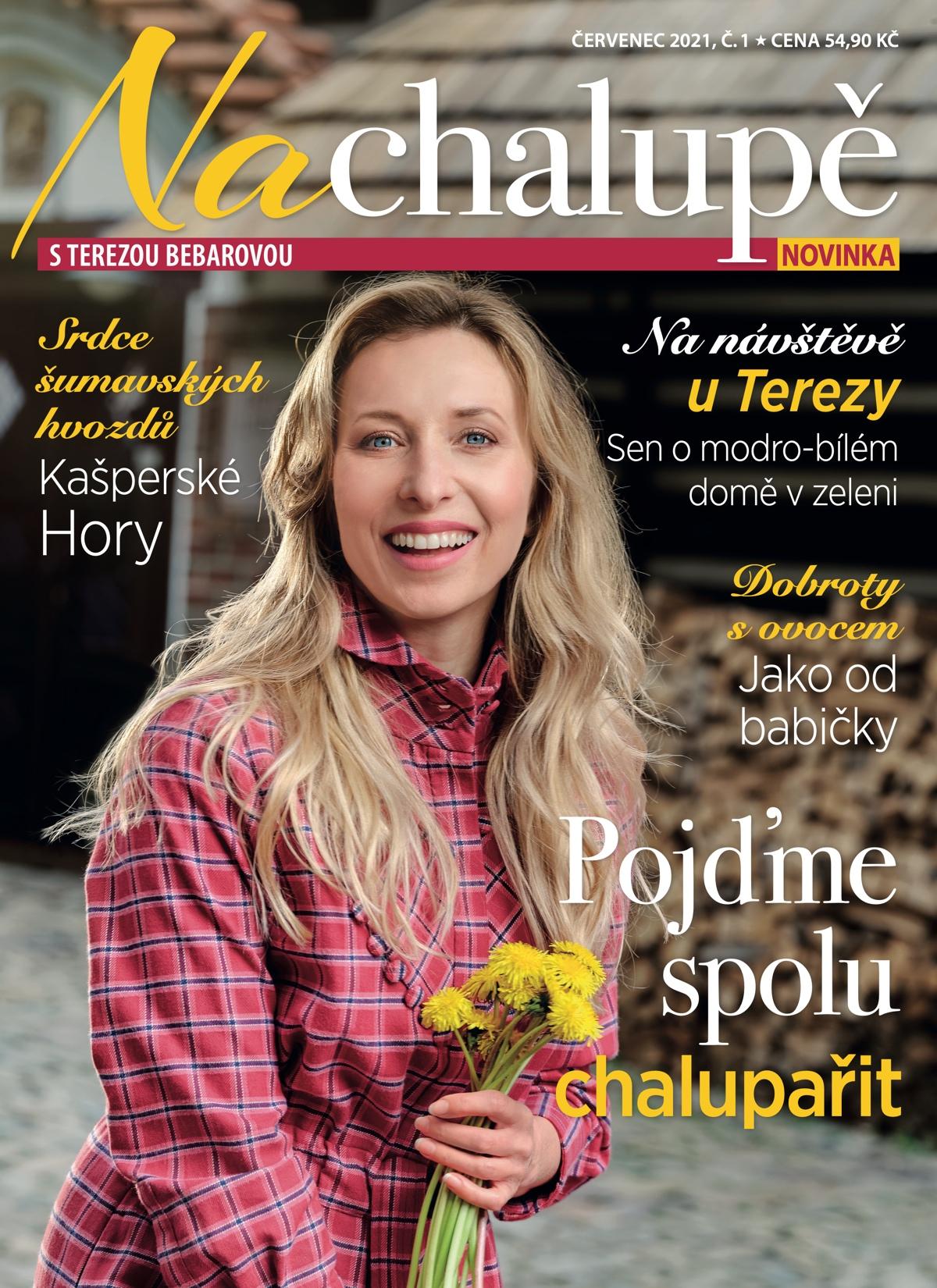 Titulní strana prvního čísla časopisu Na Chalupě sTerezou Bebarovou