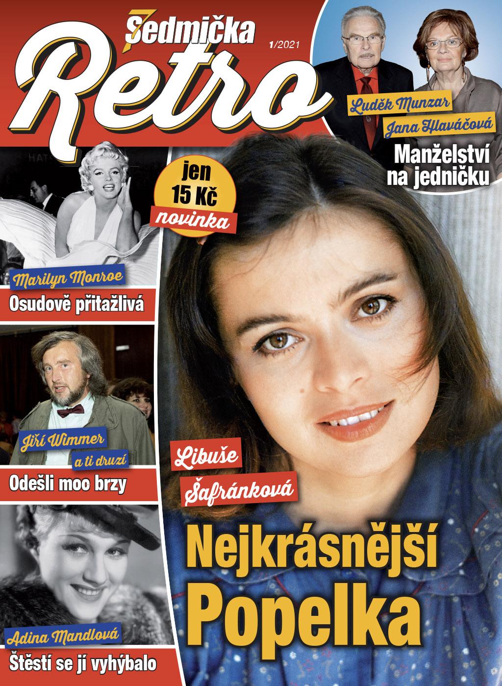 Titulní strana prvního vydání časopisu Sedmička Retro
