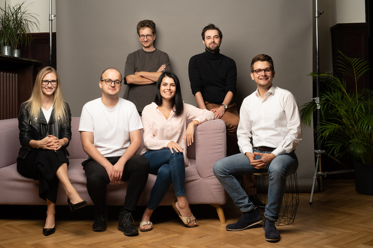 Zleva Michaela Mundlová, Marek Linhart, Roman Zámečník, Adéla Červínová, Martin Zdražil a Lukáš Krčil