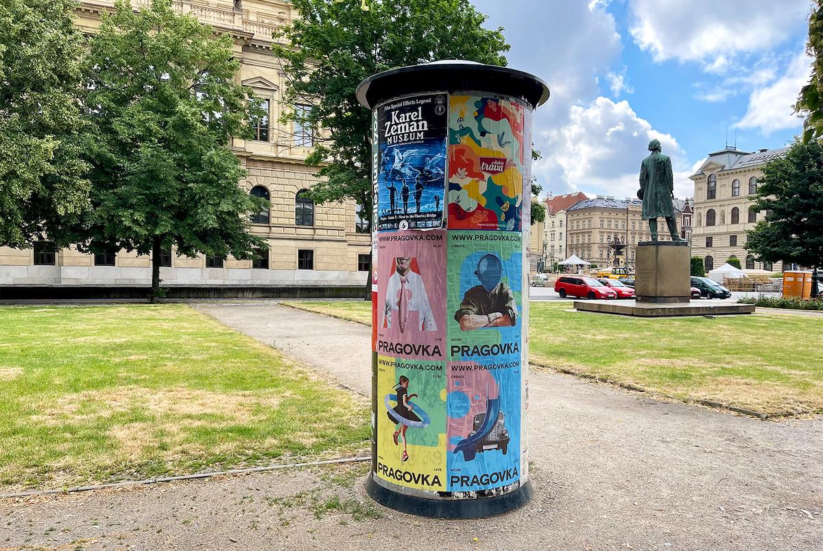 Pragovka Art District: plakáty v ulicích