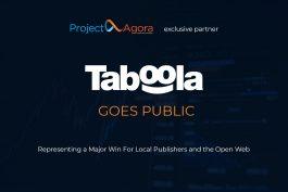 Taboola, exkluzivní partner společnosti Project Agora, vstupuje na burzu
