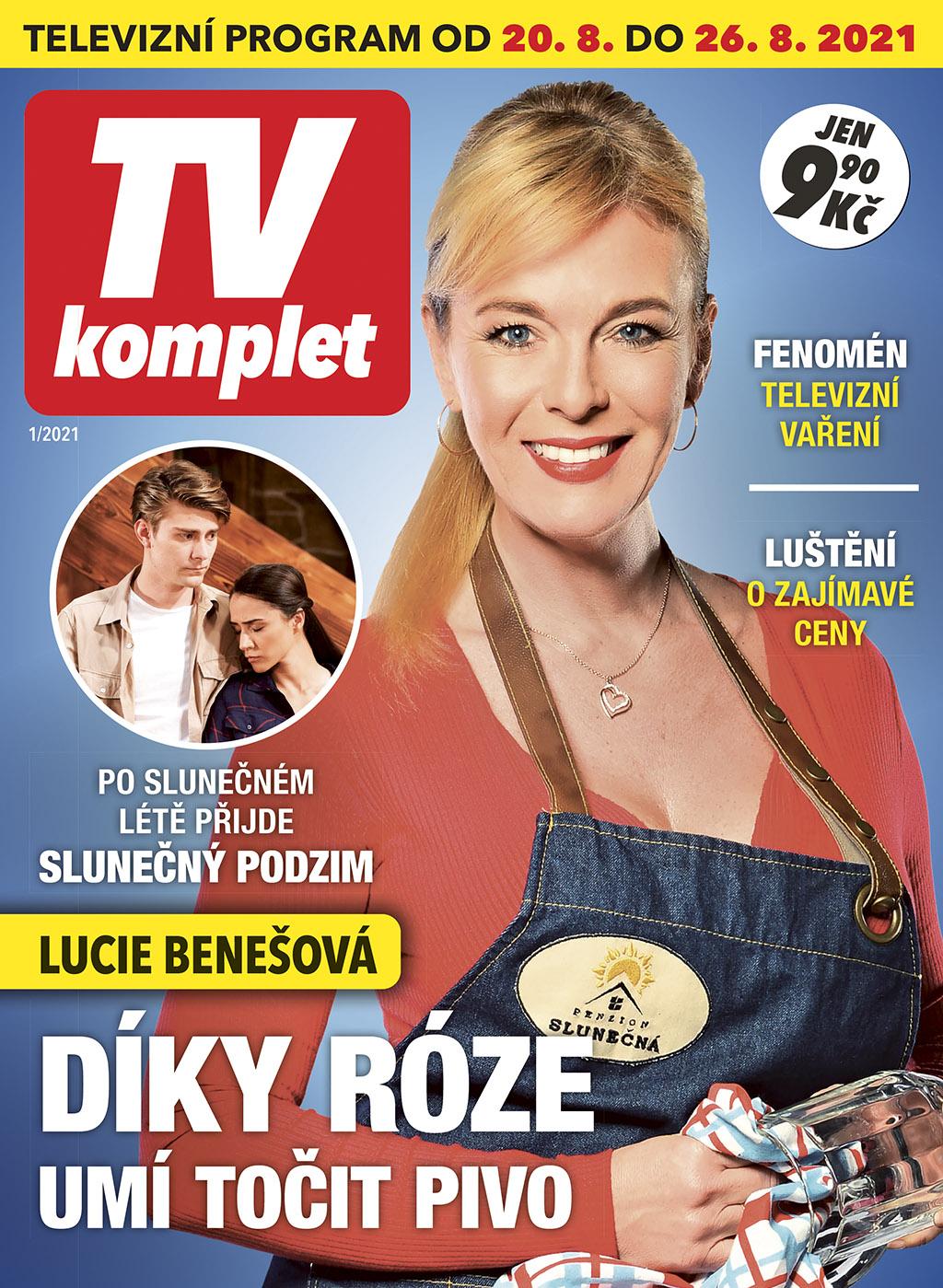 Titulní strana prvního vydání týdeníku TV komplet