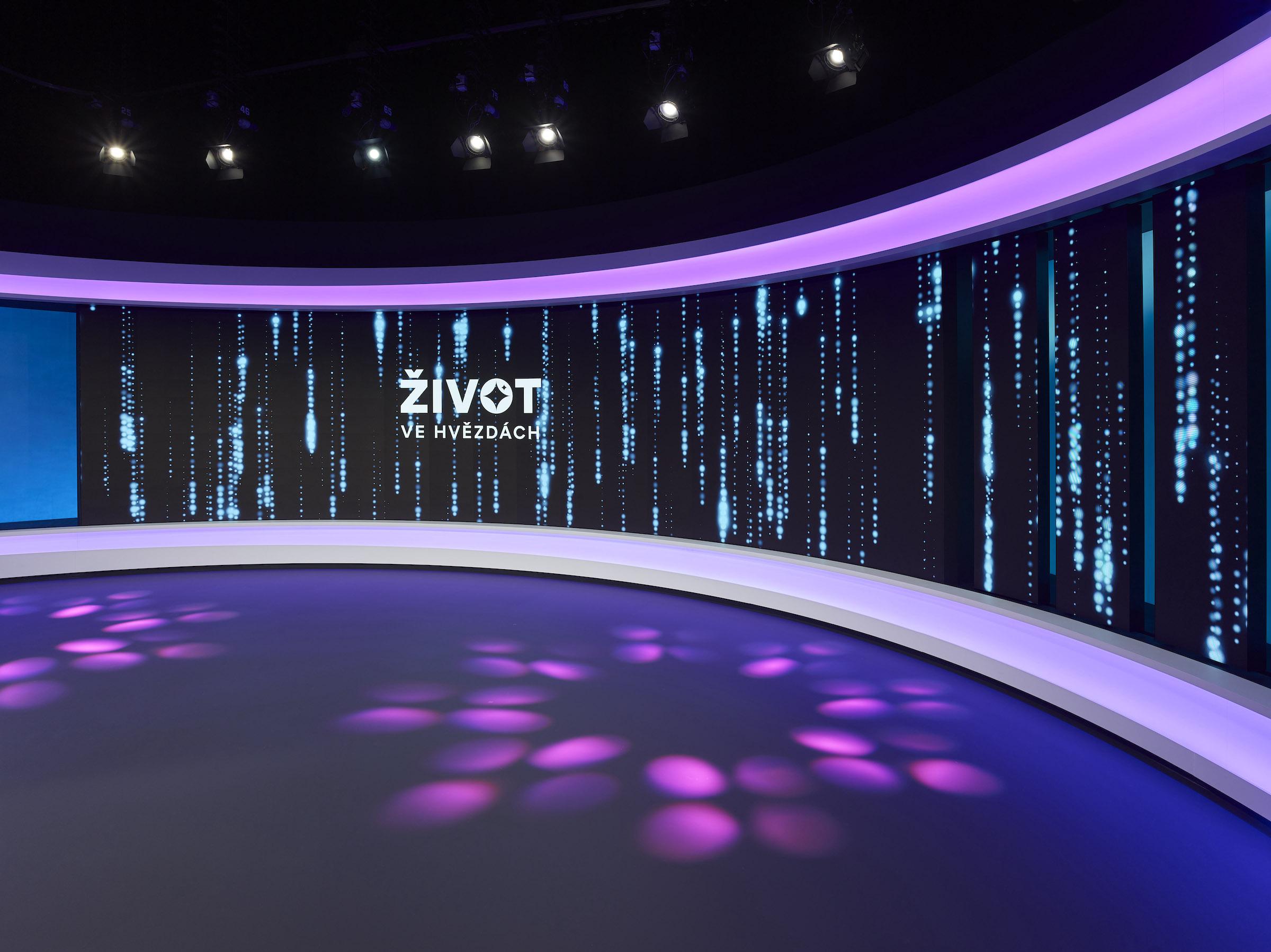 Nové studio lze vizuálně uzpůsobit i pro jiné pořady