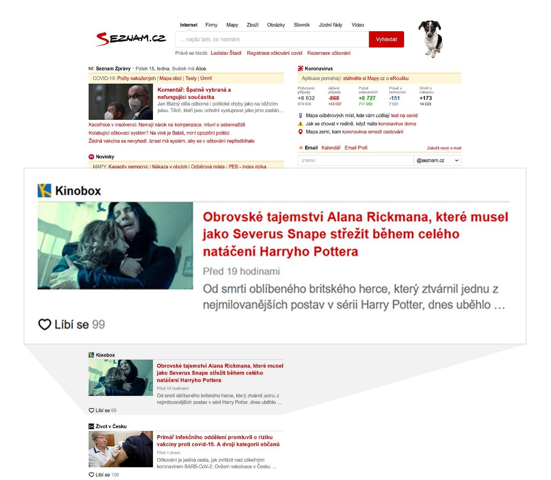 Seznam.cz Newsfeed