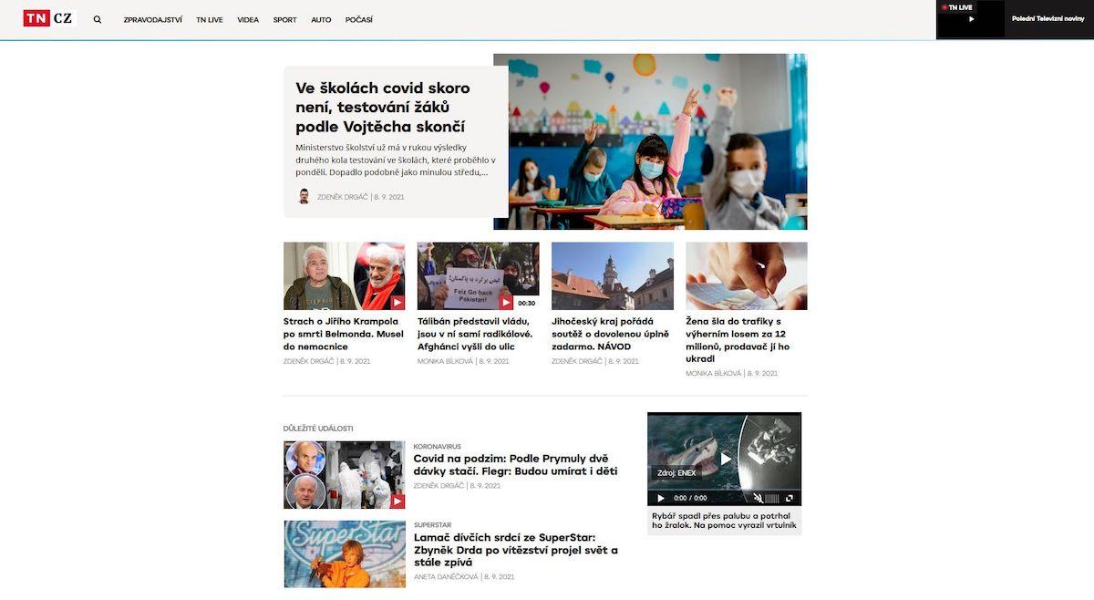 Nová podoba zpravodajského webu Tn.cz