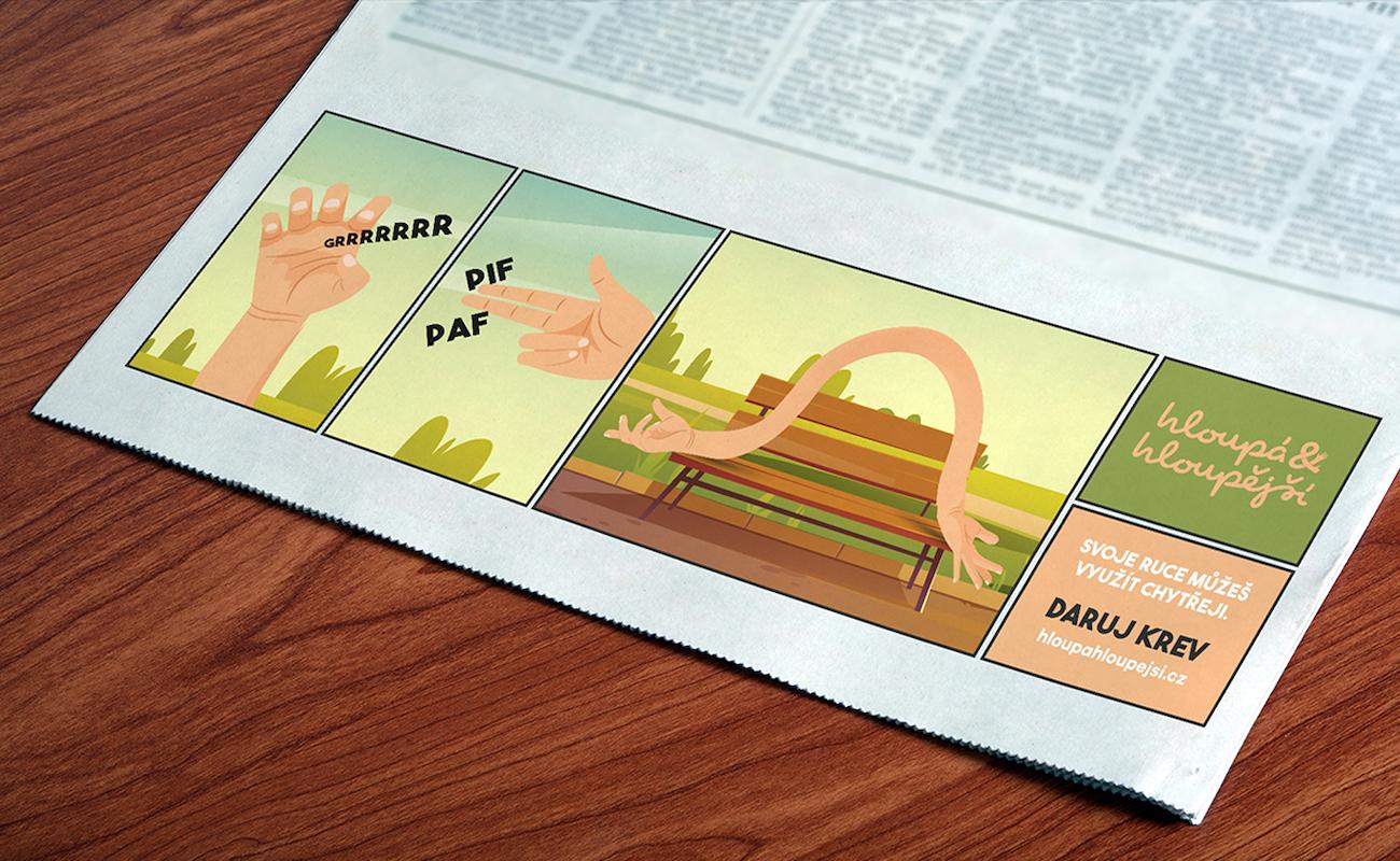 Komiksový proužek v deníku Metro