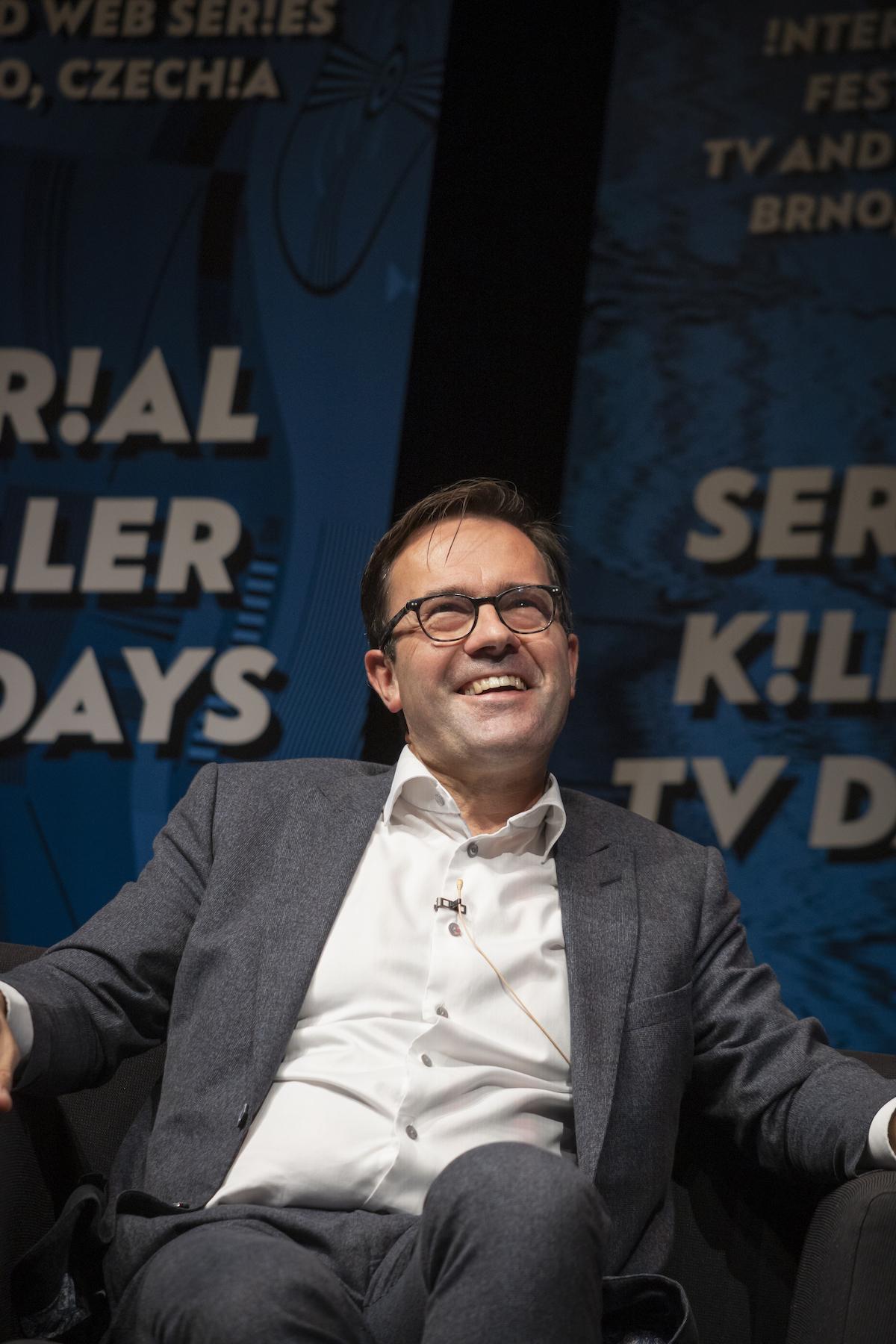 Frederik Delaplace, generální ředitel vlámské veřejnoprávní televize VRT. Foto: Serial Killer
