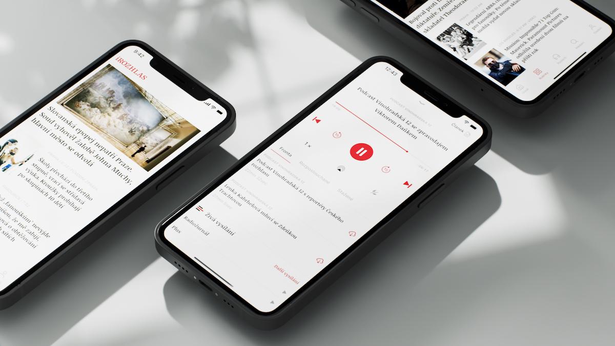 Nová mobilní aplikace iRozhlas.cz od studia Futured