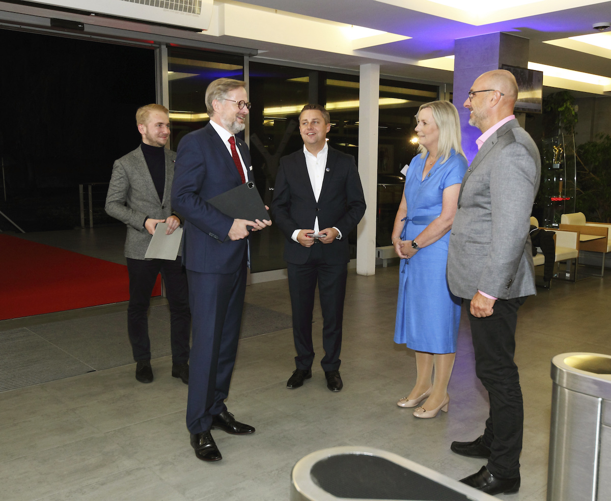 Účastníky debat vítali osobně ředitelé Novy Klára Brachtlová a Jan Vlček. Foto: TV Nova